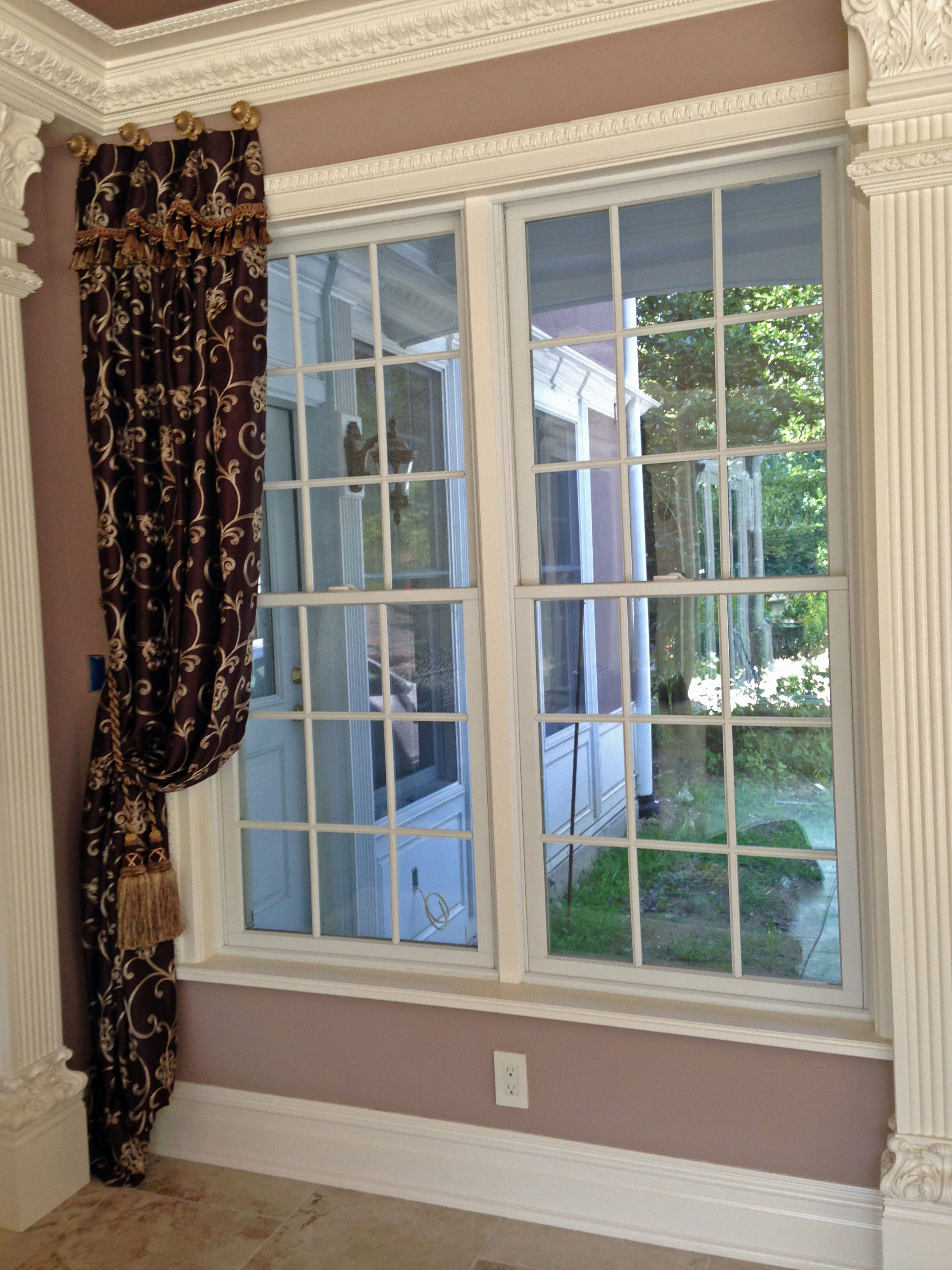 Large Foyer Window Treatment : Draperies valances