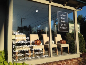 The Fabric Loft located in Lahaska, PA services Pennsylvania areas such Newtown, Yardley, Doylestown, New Hope and Peddlers Village. We also service areas in New Jersey such as Margate, Avalon, Longport and Ocean City. Services we offer include window treatments, custom bedding, custom pillows and reupholstery.