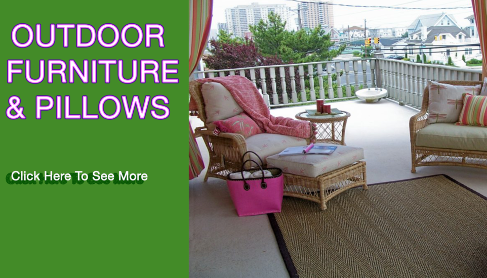 outdoor furniture and pillows